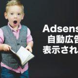 【アドセンス自動広告が表示されない】考えられる原因6つとそれぞれの対処法