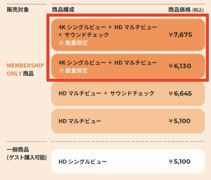 BTS オンラインライブ チケット 種類
